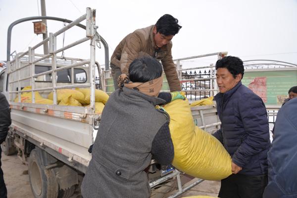 合作市委组织部和市招商局干部职工为双联点筹措资金保证牲畜度过危险期