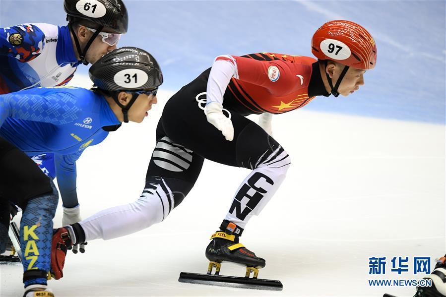 (体育)(1)短道速滑——世界杯名古屋站:中国队获男子5000米接力冠军