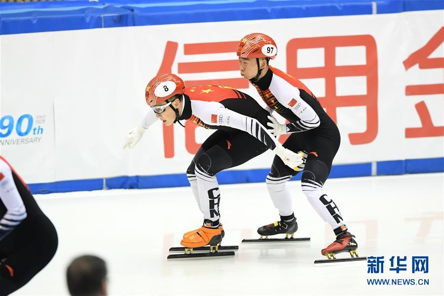 (体育)(4)短道速滑——世界杯名古屋站:中国队获男子5000米接力冠军