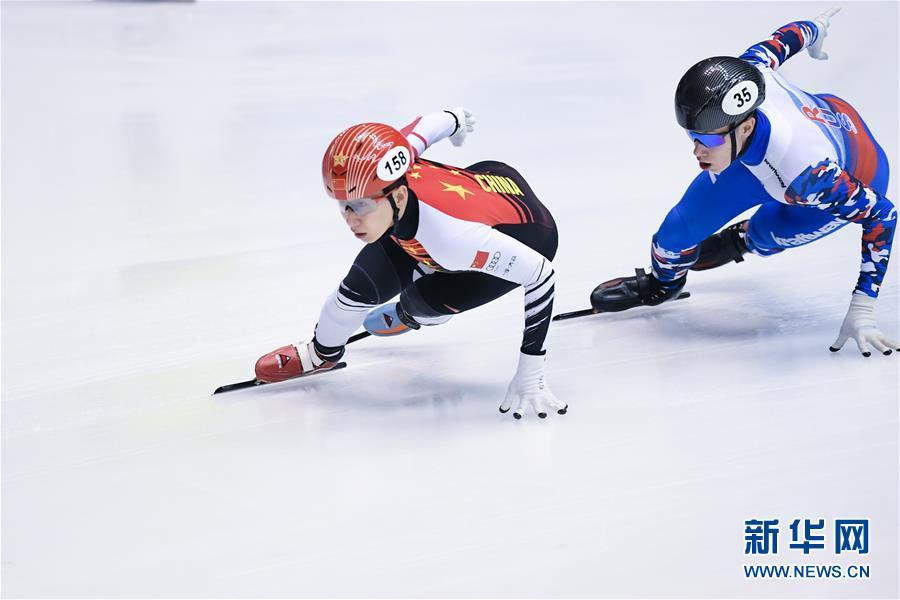 (体育)(3)短道速滑——世界杯名古屋站:中国队获男子5000米接力冠军